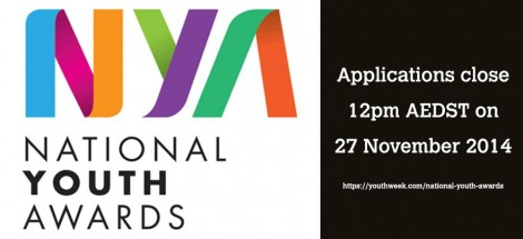 Nominations for 2015 National Youth Awards by Conrad Liveris