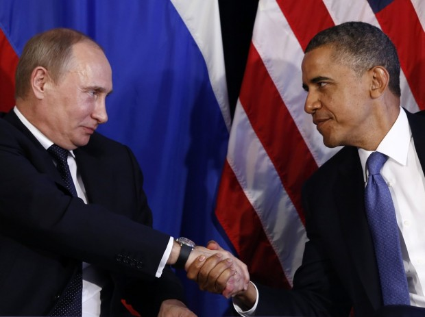 Image: U.S. President Barack Obama meets with Russian President Putin in Los Cabos