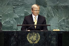 Kevin Rudd speaks at the UN General Assembly